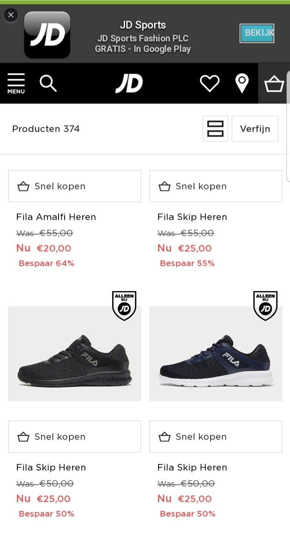 Fila sportschoenen rond de 20 euro