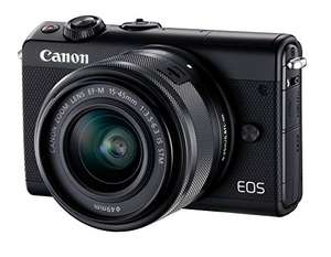 Canon EOS M100 + EF-M 15-45 mm IS STM voor €222,- @ Amazon.de