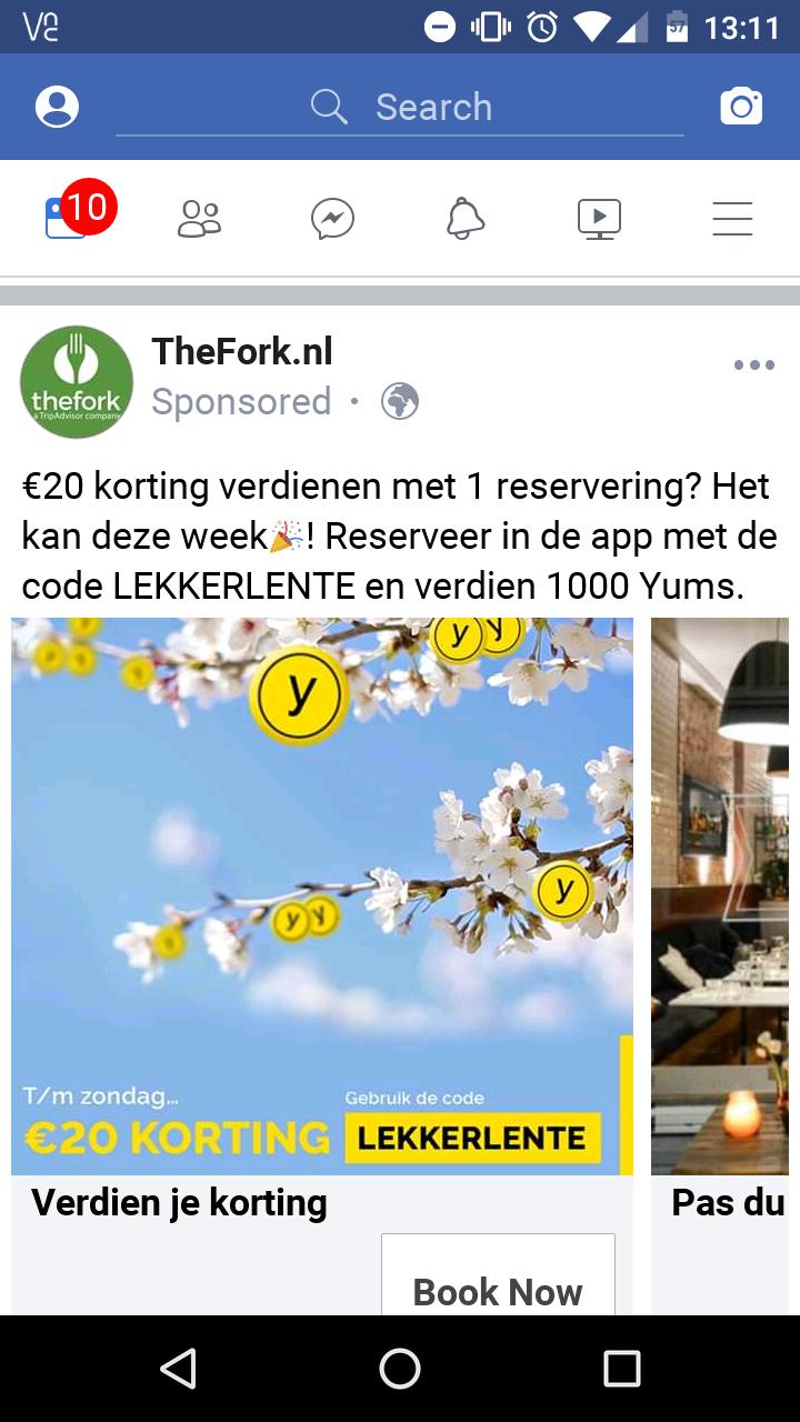 1000 yums (€20/€25) met code LEKKERLENTE bij bestelling via TheFork