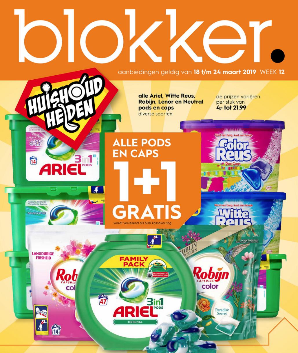 Ariel, Witte Reus, Robijn, Lenor, Neutral 1+1 bij Blokker