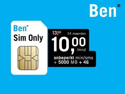 Ben Sim Only: € 86,95 korting