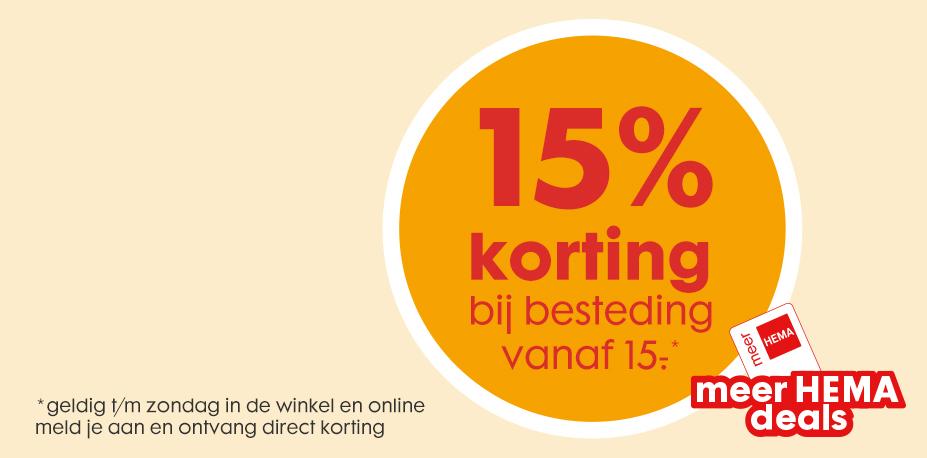 15% korting met je hemapas @Hema