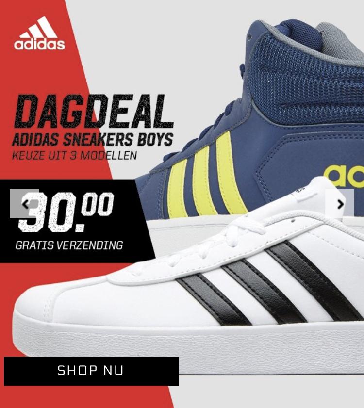 Dagdeal adidas kids sneakers voor €30 bij Aktiesport