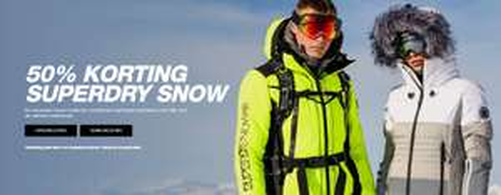 50% op de Superdry Snow collectie @Superdry.nl