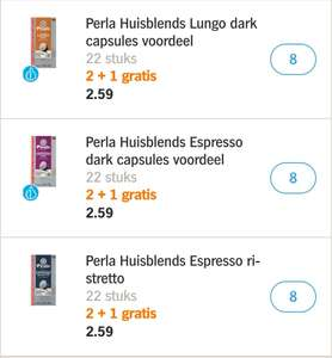 528 perla nespresso cups voor €34