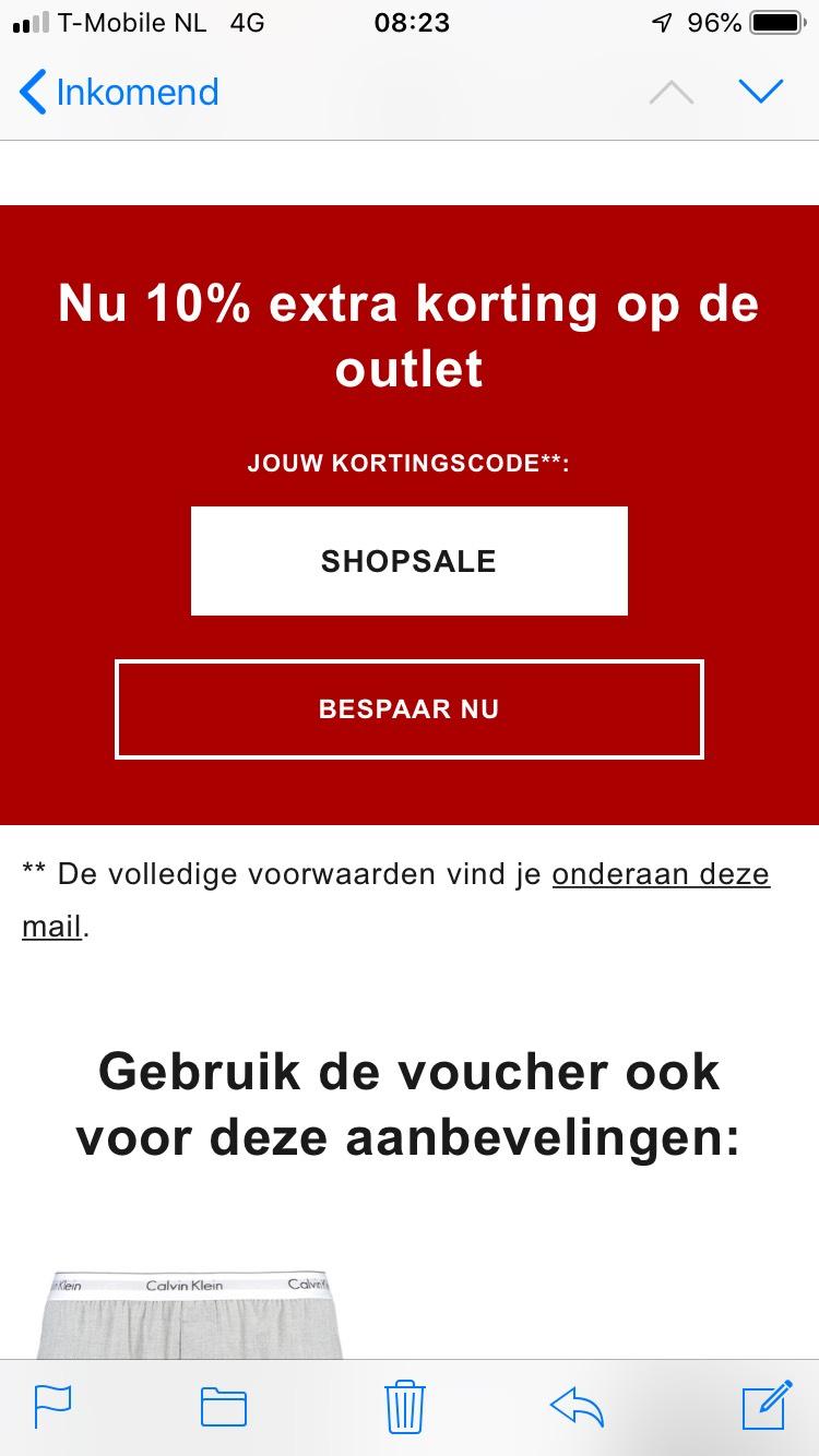 10% korting op sale bij Zalando