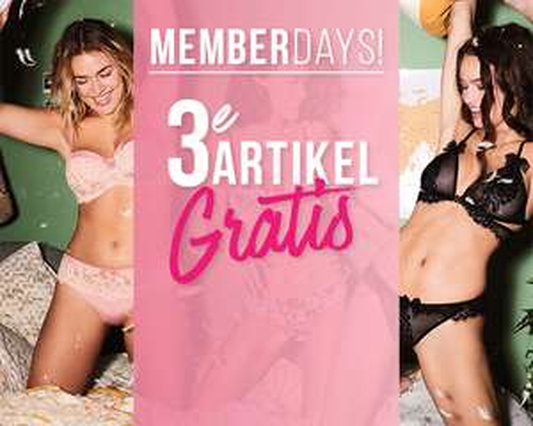 Member Days: 3e artikel gratis @ Hunkemöller