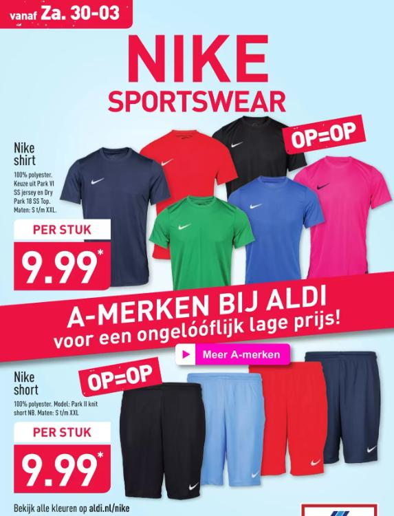 Nike Shirt of Short @ Aldi  OP=OP