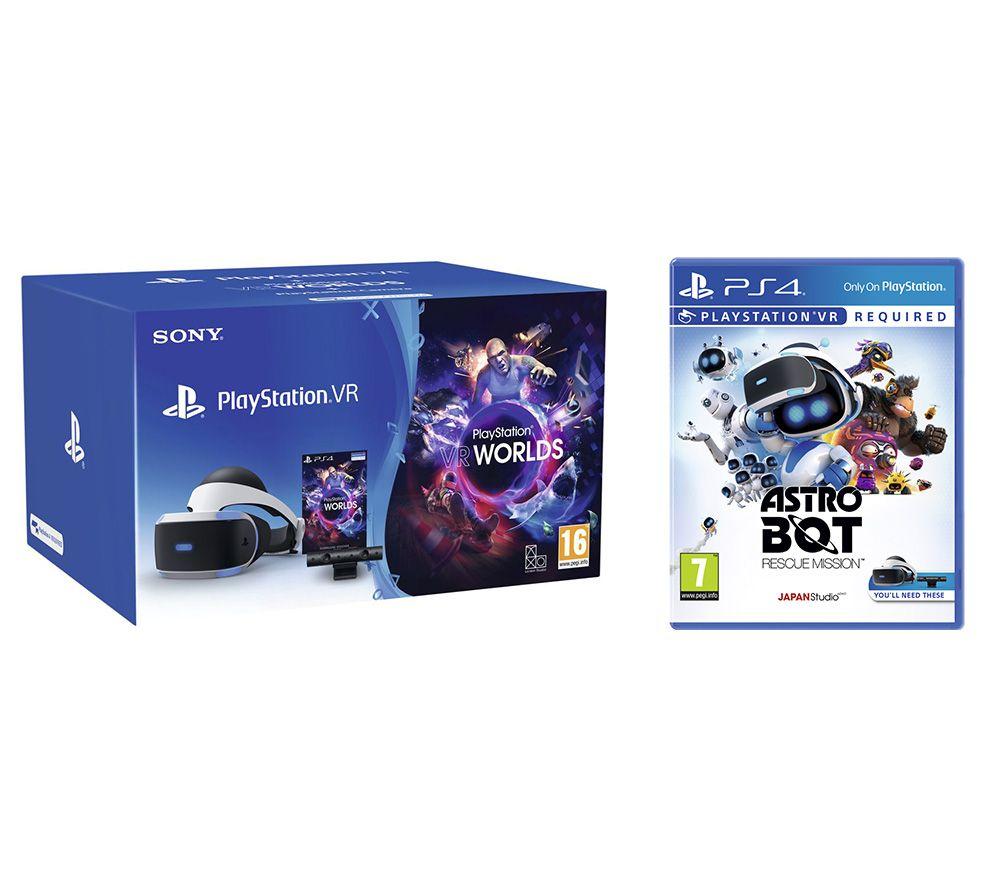 Playstation VR V2 + Camera + VR Worlds+ Astro Bot (disc versie)