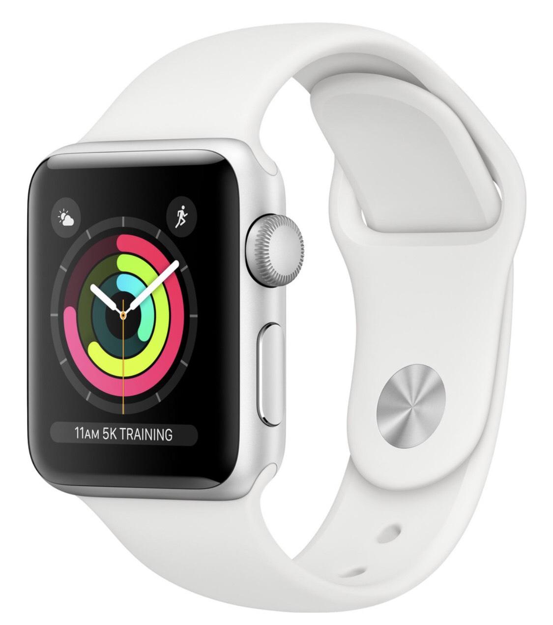 Apple Watch Series 3 42mm Silver Aluminium/Wit en Zwart/Grijs