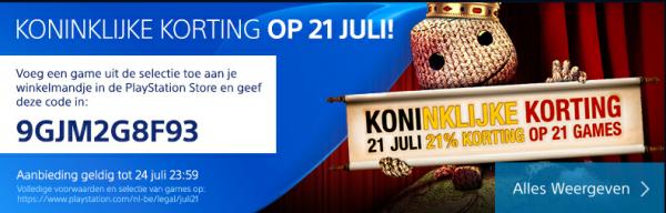 21% korting op selectie PS4 games @ Belgische Playstation Store