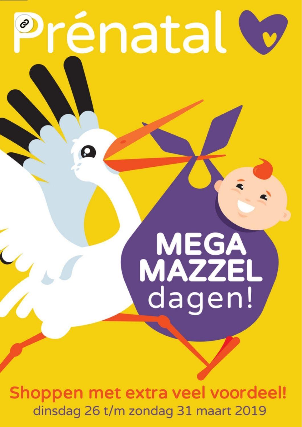 Mega mazzeldagen bij Prénatal van 26 maart t/m 31 maart 2019