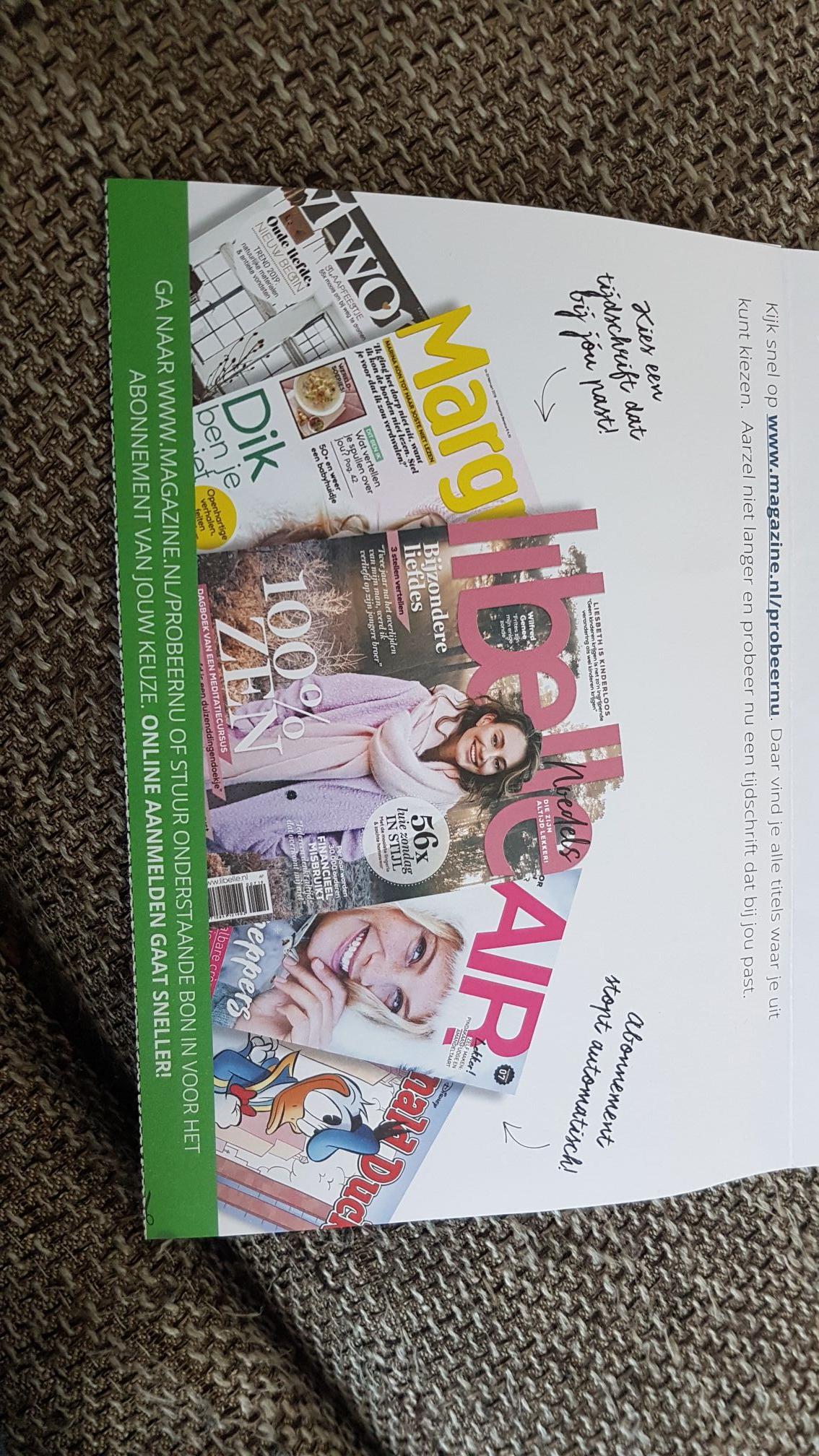 Mini tijdschrift abonnement. Tot 85% korting