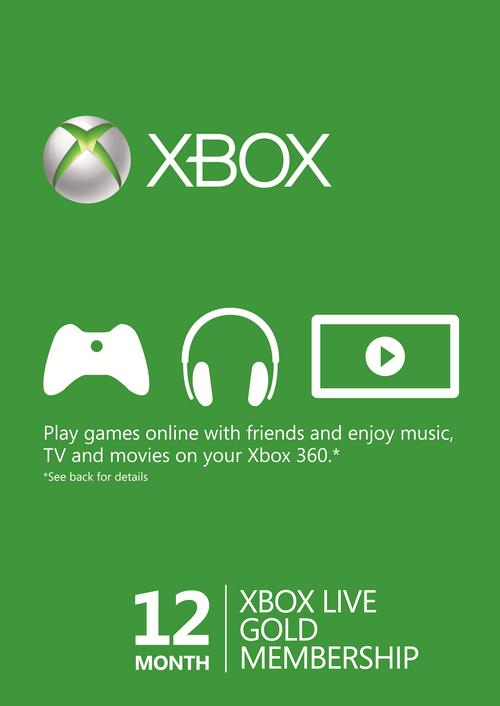 Xbox live gold 12 mnd