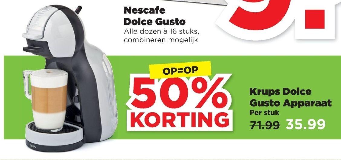 50% korting Krups Dolce Gusto  OP=OP