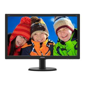 Philips 24 inch IPS-monitor 240V5QDAB @Staples