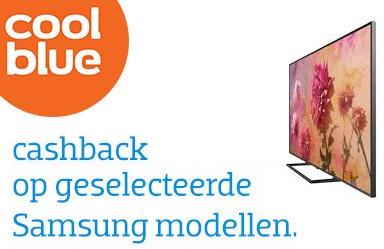Tot € 750,- cashback op geselecteerde Samsung tv's @ Coolblue