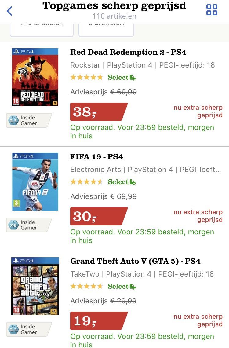 Topgames scherp geprijsd (momenteel goedkoopste)