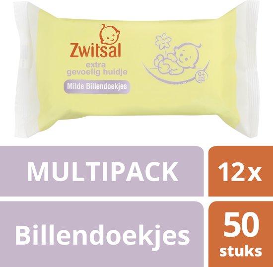 Zwitsal Extra Gevoelig Huidje Milde Billendoekjes Baby 12x 50 stuks voor 9,74 € @ Bol.com