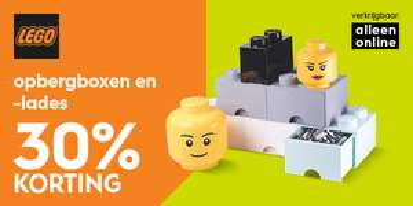 Lego opbergboxen met 30% korting