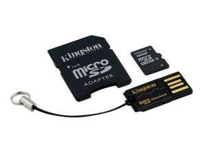 [prijsfout] Kingston microSDHC 16GB Class 10 + Adapter + USB reader/ ook 32 GB kaart!
