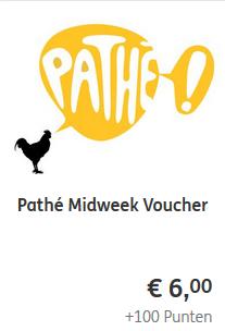 ING bank: Pathe midweek bioscoopkaartje voor 6 eur (+100 rentepunten).