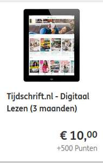 ING bank: 75x tijdschriften digitaal 3 maanden lezen. 10 eur (+500 rentepunten). -66%.