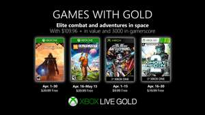 Games with Gold voor Xbox - April 2019