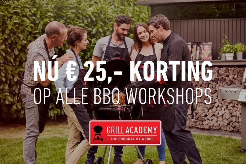 Weber Grill Academy BBQ workshops korting