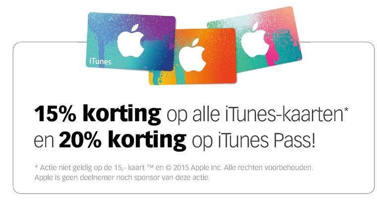 15% korting op iTunes-kaarten en 20% op iTunes Pass @ Dixons