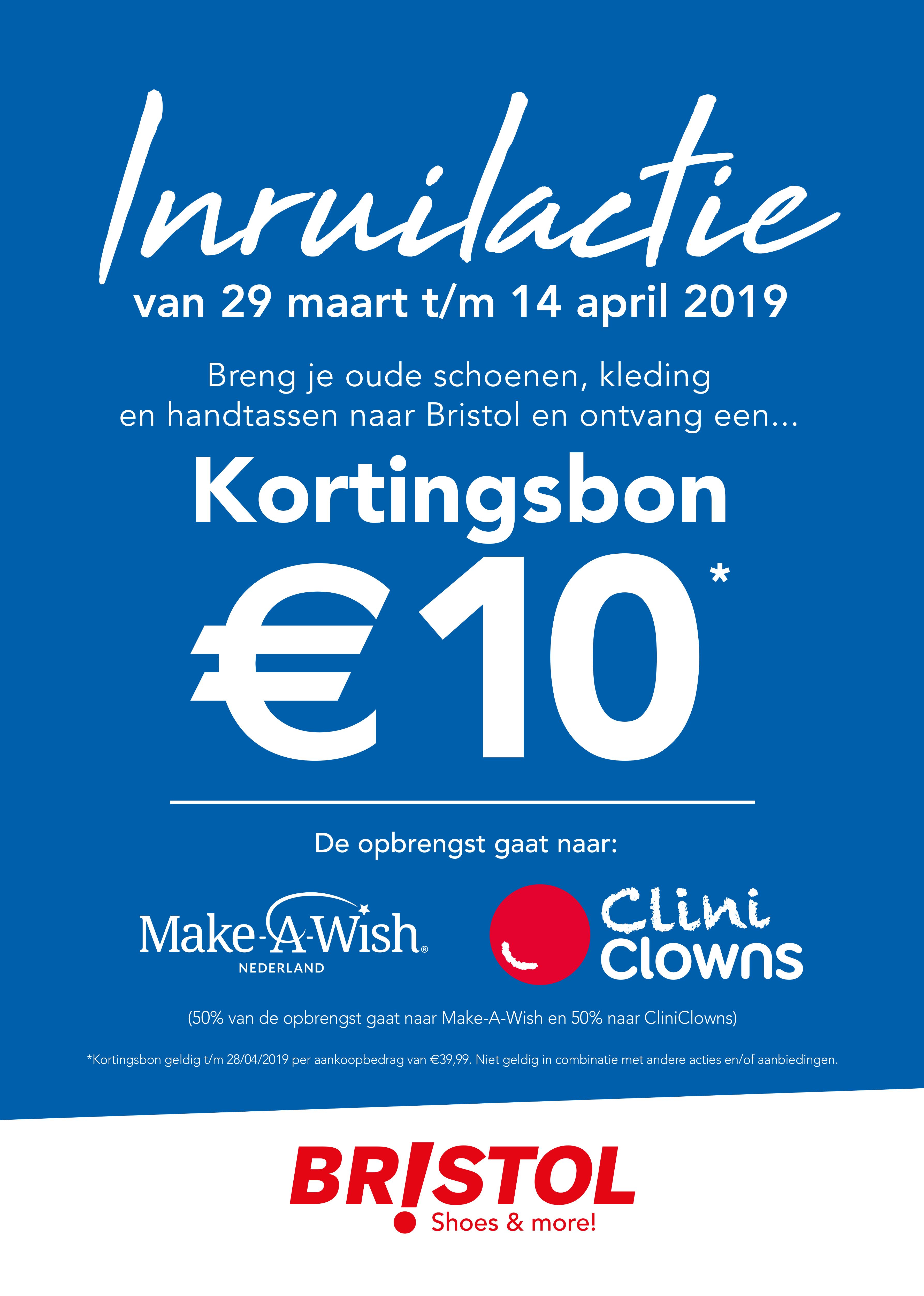 €10 kortingsbon (min. besteding €39,99) bij inleveren van je oude mode spullen