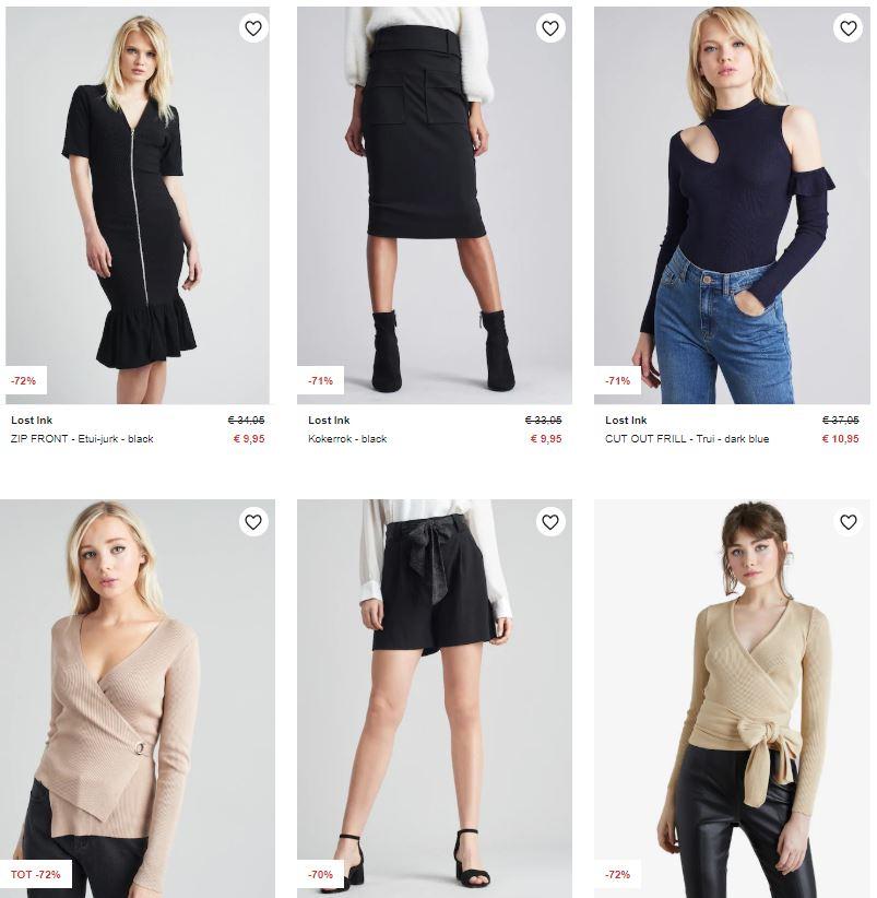 Lost Ink dameskleding 68-72% korting (20+ items va €7,95) @ Zalando