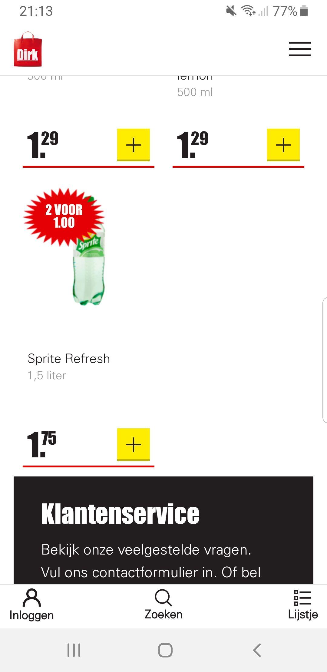 Prijsfout? Stunt? 2x 1.5 liter Sprite voor 1 euro, normaal 1.75 per fles (oftewel meer dan 71% korting) @Dirk