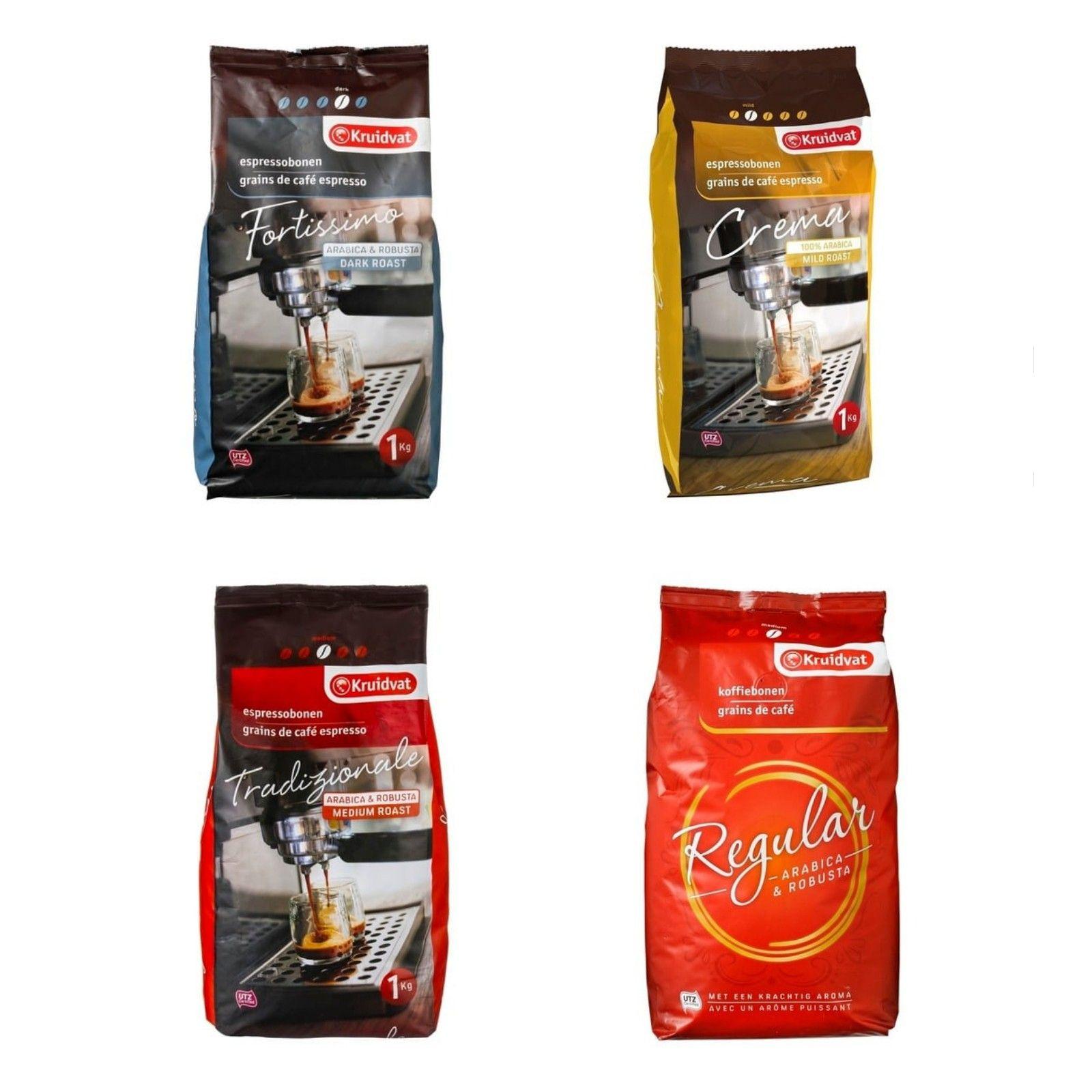 Kruidvat koffiebonen 2 kg voor €10 (i.p.v. €14,38) of met 100 punten €9 @Kruidvat