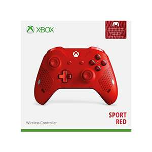 Amazon.es aanbieding: Xbox One Wireless Controller Sport Red (Special Edition)