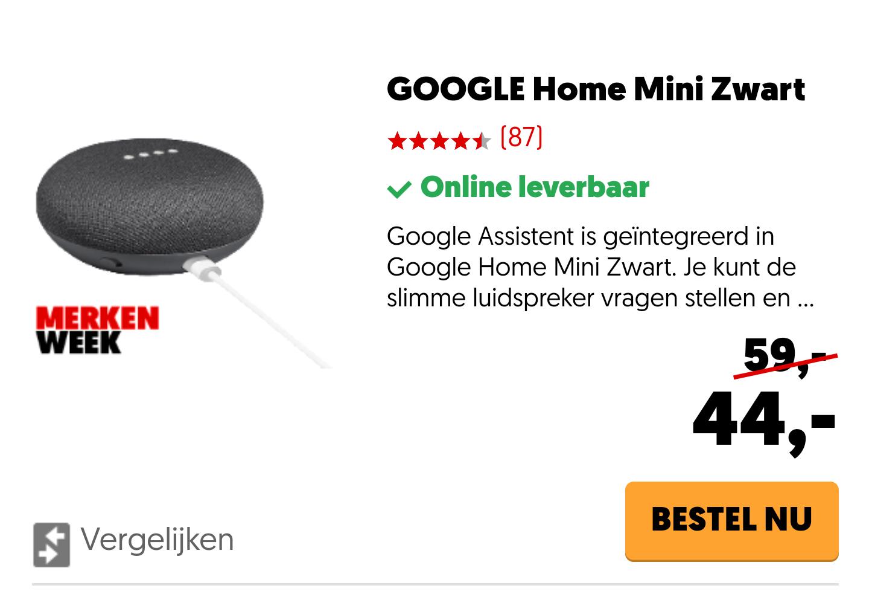 Google Home + andere Google producten -25%