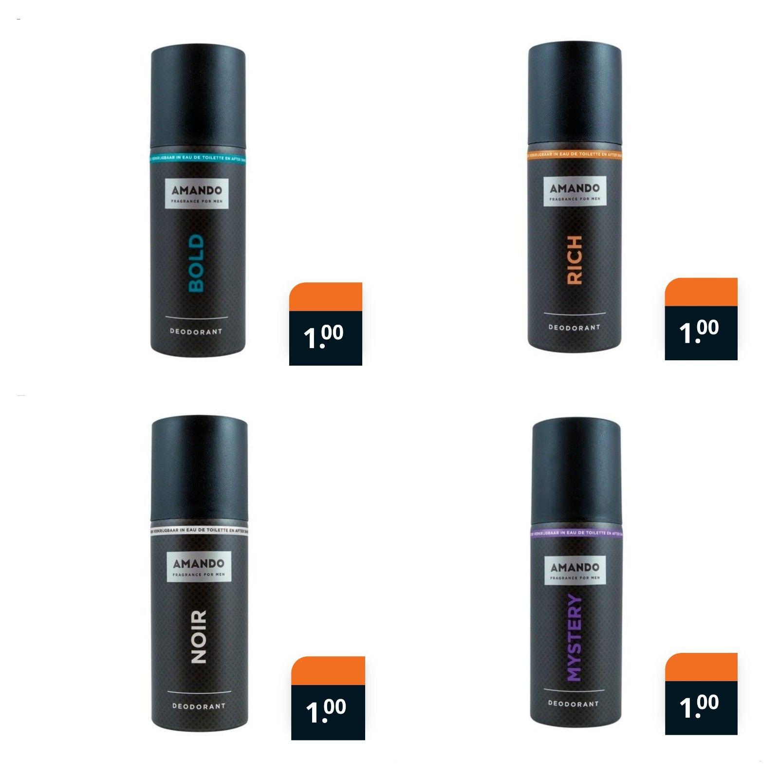 Amando deodorant €1 @Trekpleister