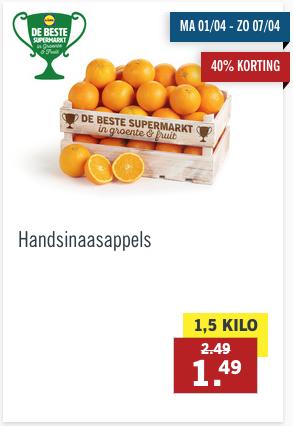 1,5 kg handsinaasappels voor 1,49 bij Lidl