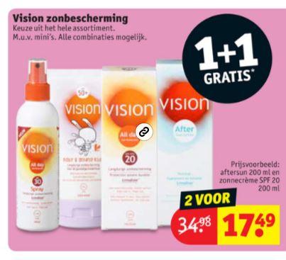 Vision zonbescherming 1+1 gratis @ Kruidvat