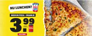 Stuntlunch Domino's Pizza: Medium pizza + drankje €3,99