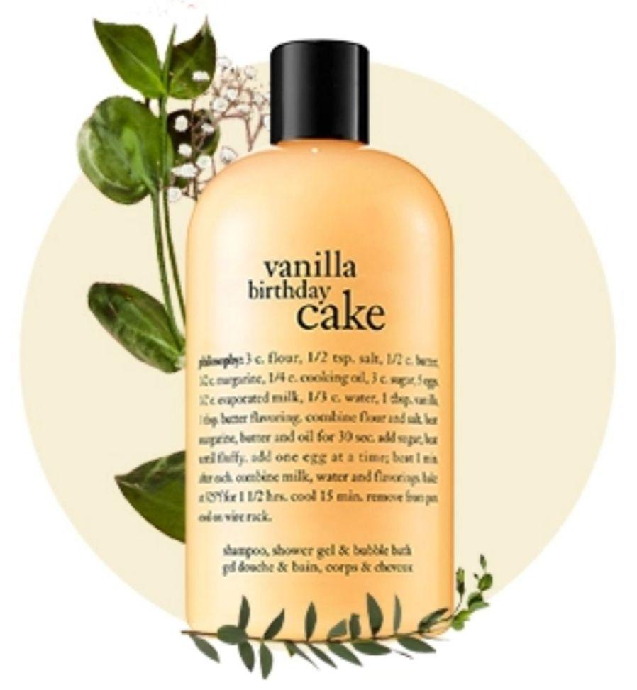 Gratis Philosophy Vanilla Birthday Cake showergel 480ml t.w.v. €18,- bij je Philosophy bestelling @Wehkamp