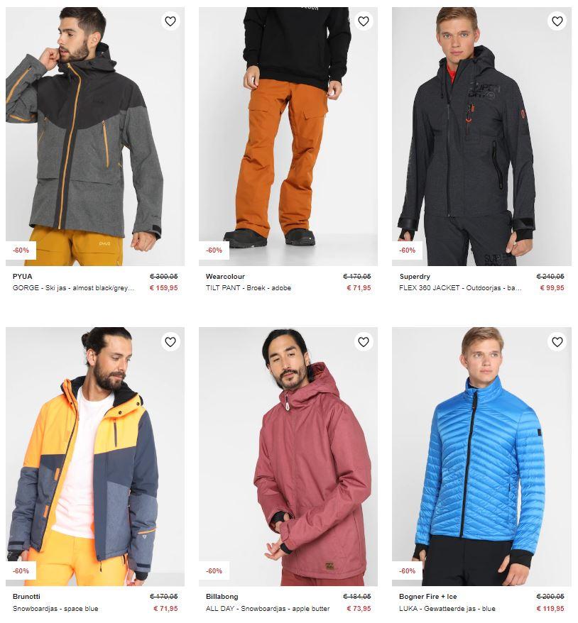 Heren wintersportkleding -60% @ Zalando