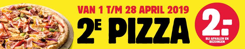 2e Pizza voor €2