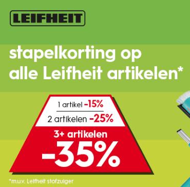 Stapelkorting op Leifheit artikelen bij Blokker