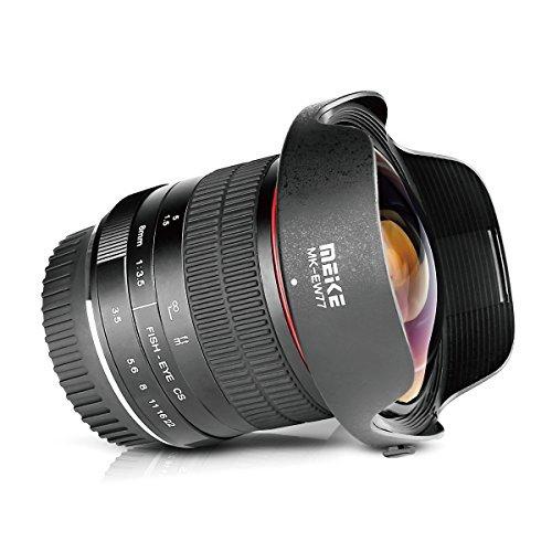 Meike MK-8mm f/3.5 Fisheye voor Canon, Sony, Panasonic voor €148,58 @ Amazon