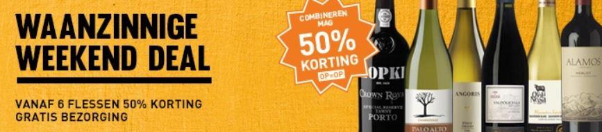 Diverse wijnen va 6 flessen 50% korting + gratis bezorgd @ Gall & Gall