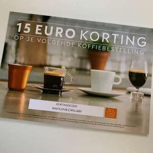 15 euro korting op Nespresso koffie