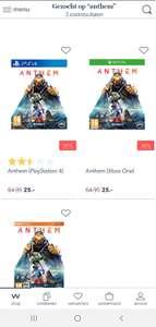 Anthem voor €25 incl bij Wehkamp (X1/PS4)