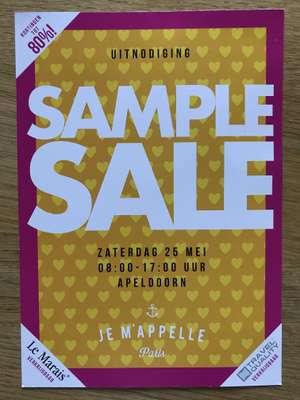Je m'appelle samplesale in Apeldoorn tot -80%