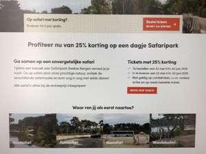 25% korting op tickets voor Beekse Bergen